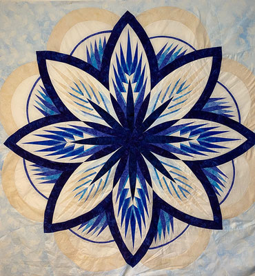 batik bleu