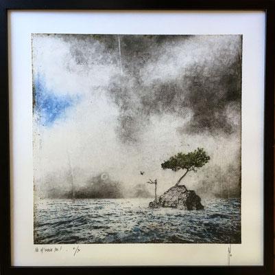 Antoine Josse - Ne m'oublie pas - Réf 264 - N°4/30 - 50 cm x 50 cm - Encadrement sous-plexi contour métal noir
