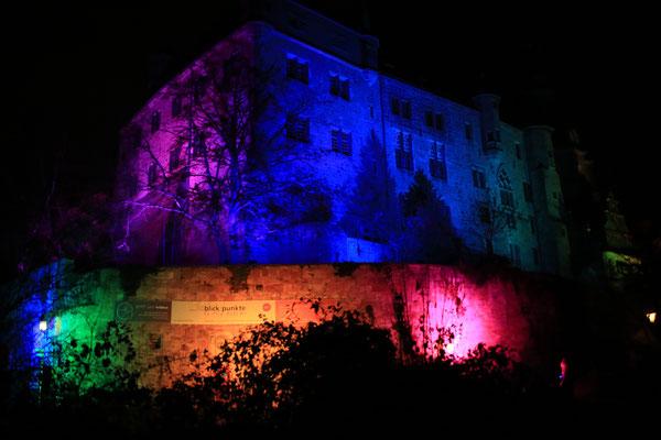 Marburg b(u)y night - Das Schloss darf natürlich nicht fehlen (und lag sowieso am Heimweg)