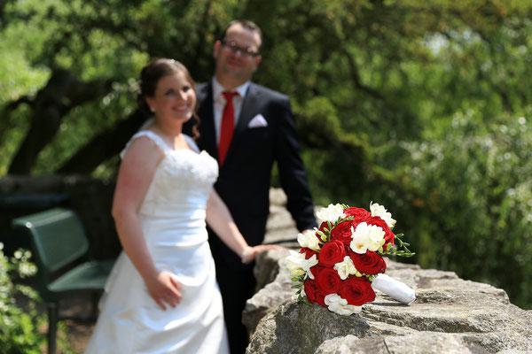 Brautpaarshooting: Brautstrauß