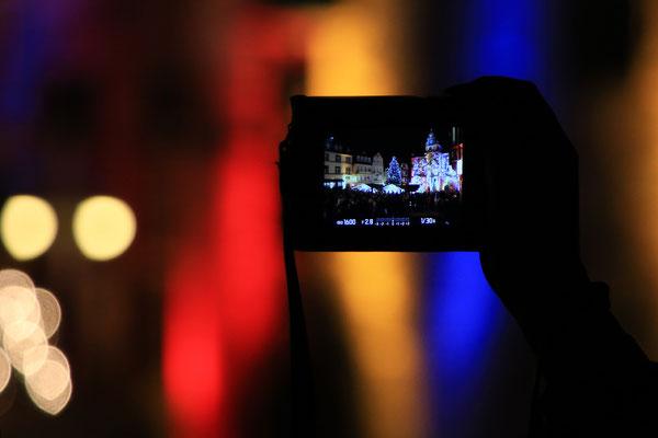 Marburg b(u)y night - Der illuminierte Marktplatz mal aus anderer Perspektive