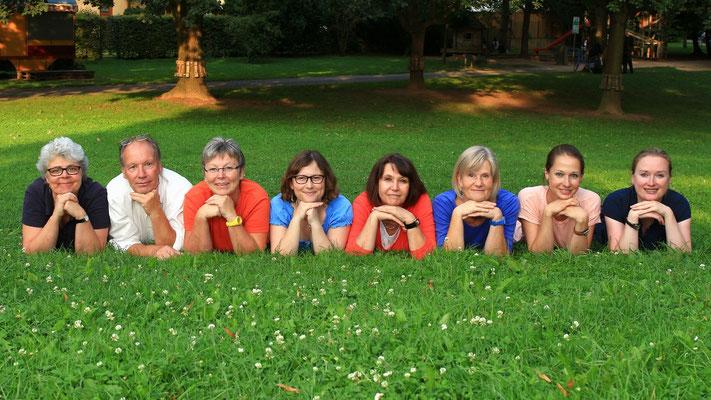 Gruppenfoto im Park