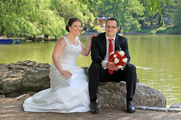 Brautpaarshooting im Palmengarten in Frankfurt