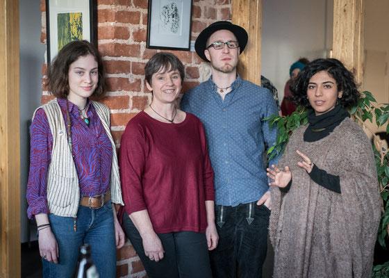 Die KünstlerInnen (v.l.n.r.) Ines Schäfer, Renate Bostroem, Fabian Schäfer, Melika Moazeni.