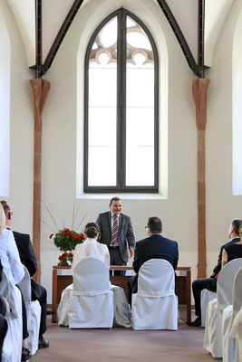 Trauung in der Nikolai-Kapelle in Frankfurt