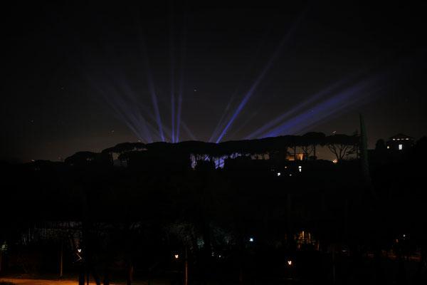 Silvester: Lichtspiele über dem Palatin