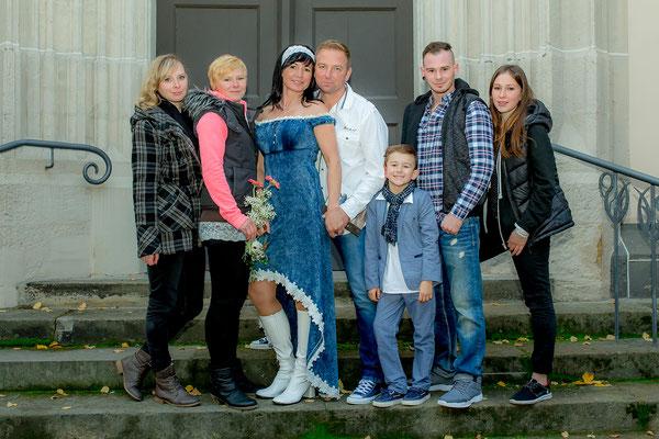 Maika Uhlemann und ihre Familie