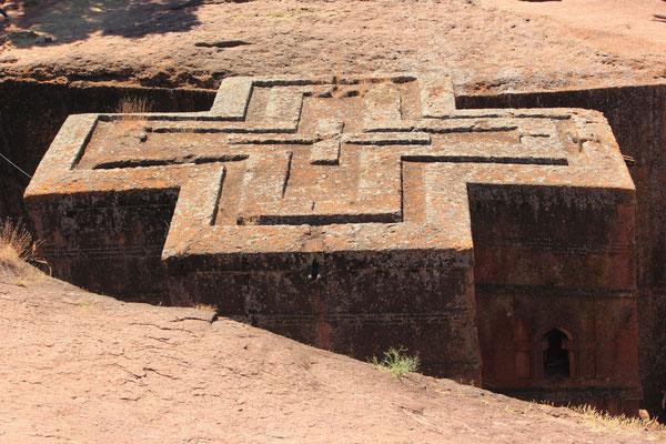 Äthiopien; Felsenkirche Lalibela