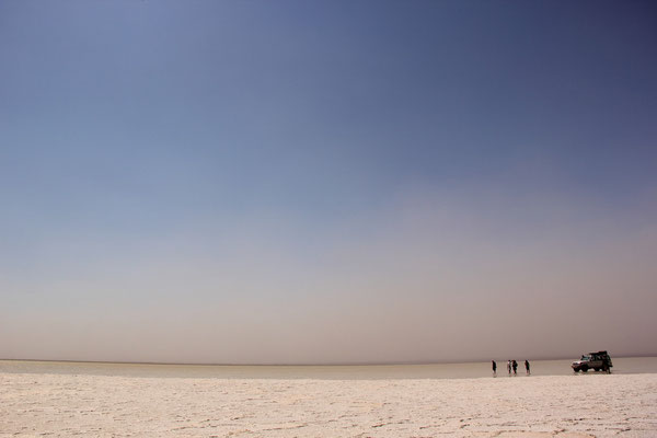 Äthiopien; Salzsee in der Danakil-Wüste