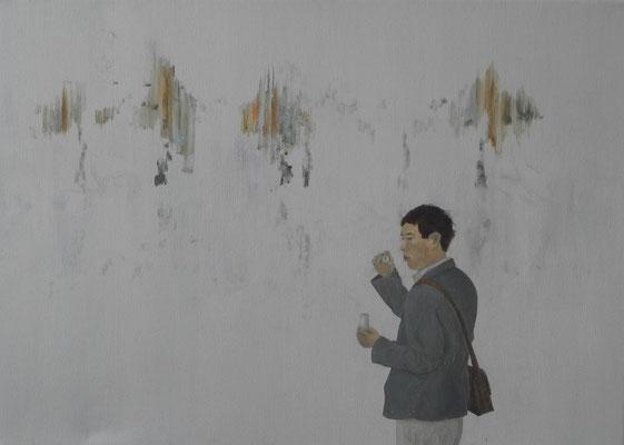 pustefix, öl, 50x70, 2008