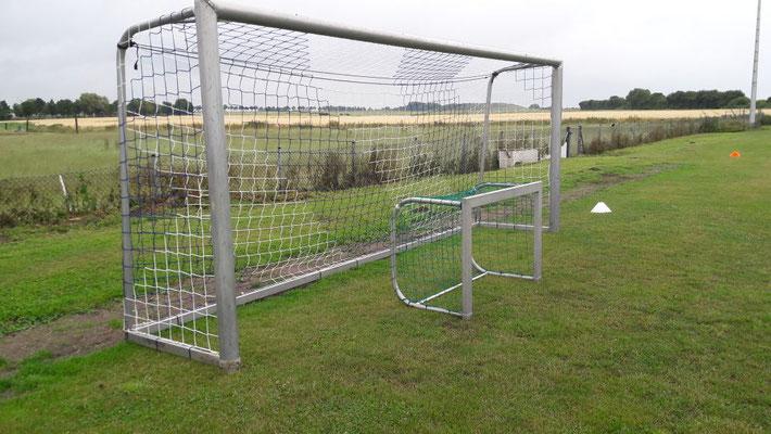 Gespendet vom Förderkreis: neue Netze für die Tore