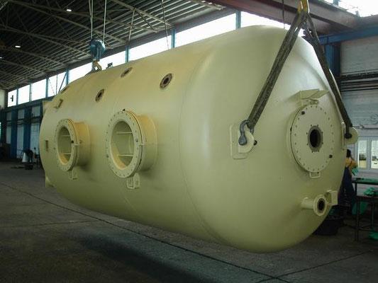 zum Transport vorbereiteter Behälter