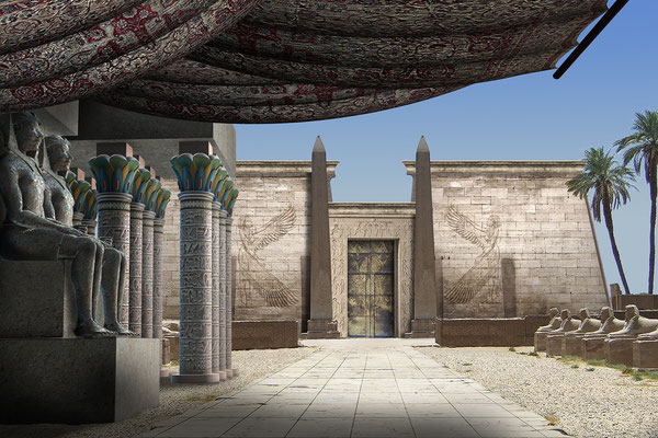 Tempelanlage mit offener Seite