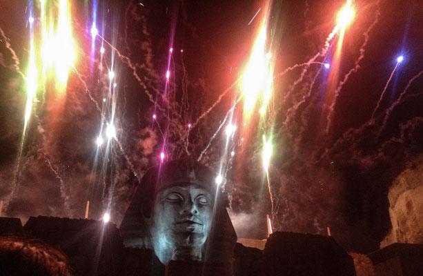 Das berühmte Feuerwerk in St.Margarethen...