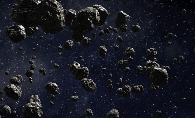 Asteroids - made with VideoCopilot Element 3D