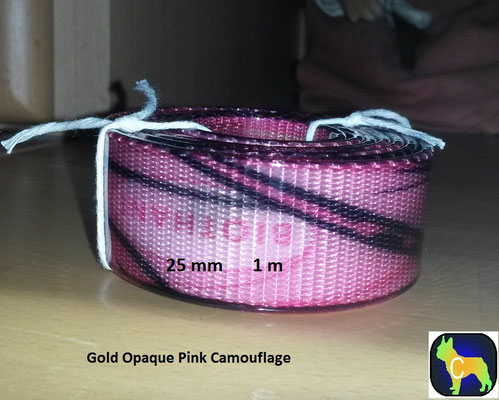 festes Material 25 mm - 1 m Biothane Meterware