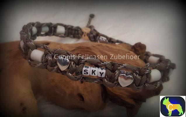 , Paracord Halsband, Halsband tau, Em Keramik, Keramik, SChmuckhalsband, Hundehalsband Tau, Seil , Name Halsband, Em Keramik Halsband verstellbar