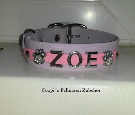 Biothane Hundehalsband Namen Metallbuchstaben,  Biothane Hundehalsband, Hundehalsband mit Namen, Biothane mit Namen, Hundehalsband, Halsband aus Biothane