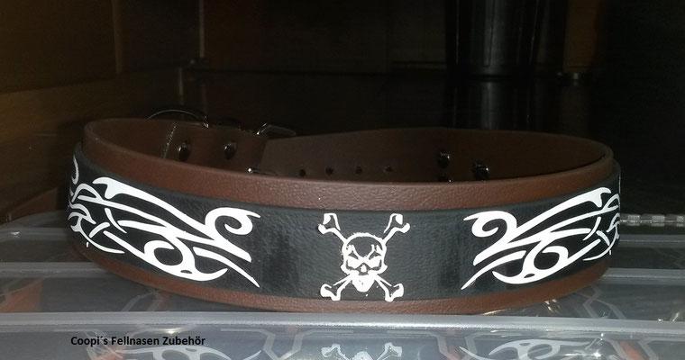 Biothane Hundehalsband mit Plotterfolie Namen Druck, Halsband bedruckt