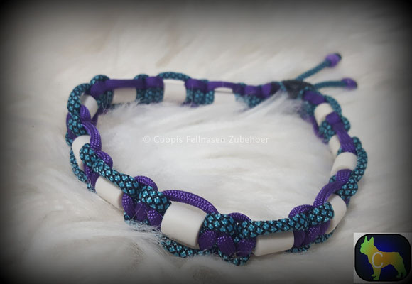 , Paracord Halsband, Halsband tau, Em Keramik, Keramik, SChmuckhalsband, Hundehalsband Tau, Seil , Name Halsband,