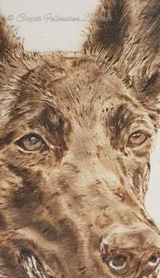 60 x 30 cm  Brandmalerei Tiere, Brandmalerei Holz, Pyrographie, wood burning, Brandmalerei Hund, Brandmalerei Porträt,  Brandmalerei Fisch, Brandmalerei Fantasy, Brandmalerei Schild, Brandmalerei Welcome