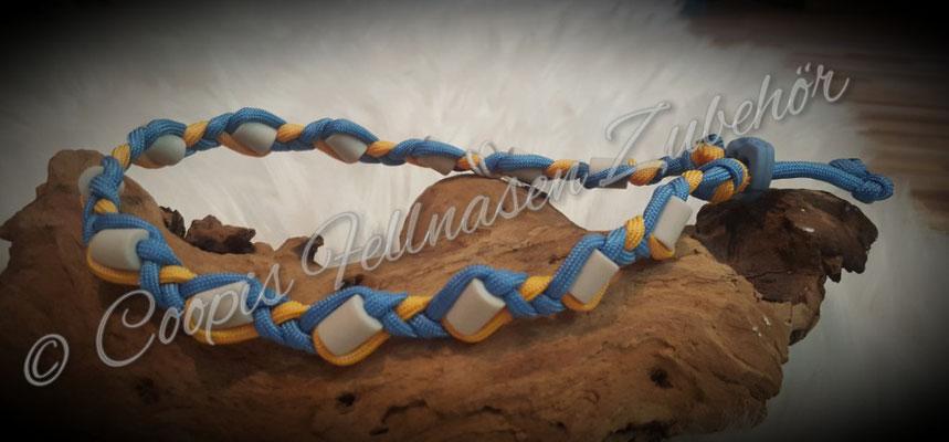 Em Keramik Halsband , Antizecken Halsband aus Paracord  HU 36 cm  € 16,00   - € 9,60