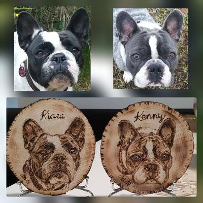 Französische Bulldogge Brandmalerei, Foto Holz, Holzgravur, Holz brennen, Bilder auf Holz, Holzbild, Tiere auf Holz, Tierfoto auf Holz,  Hund auf Holz, Holzfoto Tier, Haustier Holz, Pyrographie