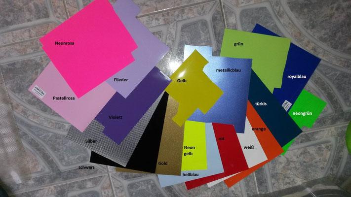 Farben für den Druck!!!!!  Plotterfolie