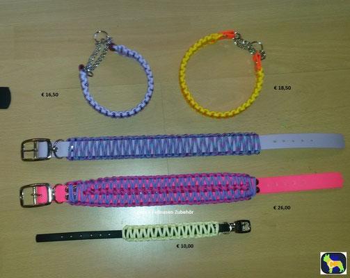 Biothane Hundehalsband mit Paracord, Namen, Perlen, Hund , Biothane Paracord