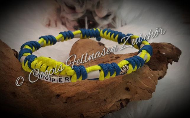 Em Keramik Halsband, Em Keramik Schmuckband, Paracord Em Keramik Band, Zeckenhalsband,  Em Keramik Halsband mit Namen