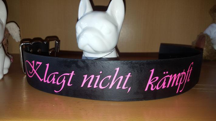 Biothane Hundehalsband mit Plotterfolie Namen Druck, Hundehalsband mit Druck, Hundehalsband mit Namen, bedrucktes Hundehalsband, biothane Hundehalsband