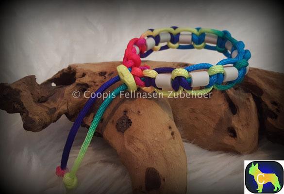 , Paracord Halsband, Halsband tau, Em Keramik, Keramik, SChmuckhalsband, Hundehalsband Tau, Seil