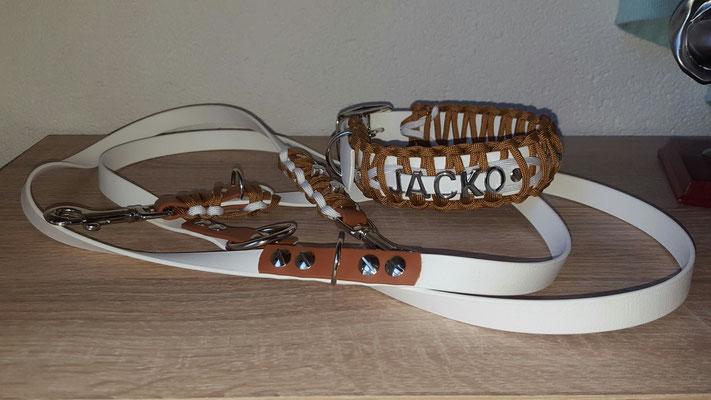 Biothane Hundehalsband mit Paracord, Namen, Perlen, Hund, Biothane Paracord, Hundehalsband Paracord, Paracord Hundehalsband, Bully, Retriever, Franzose