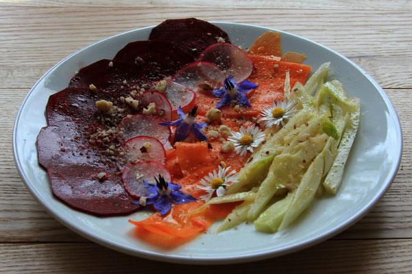 carpaccio de légumes au Bistrot du Parc