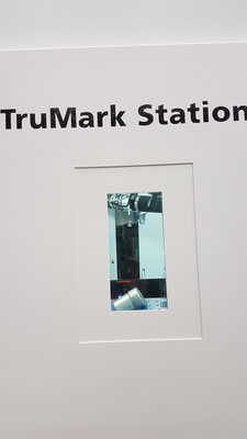 Blick in die TruMark Station: Hier wird gerade mein Gewürzdöschen markiert