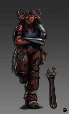Concept Art - Character Design - Engineer - Mechaniker