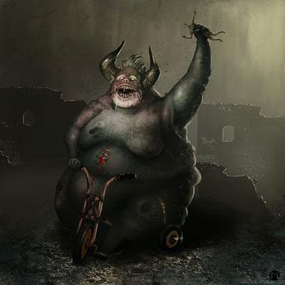 Concept Art - Character Design - Demon Infant - Dämonenkind