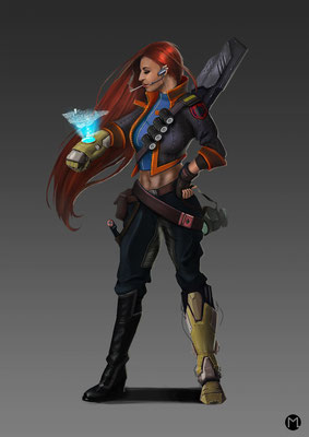 Concept Art - Character Design - Special Agent - Geheimagentin