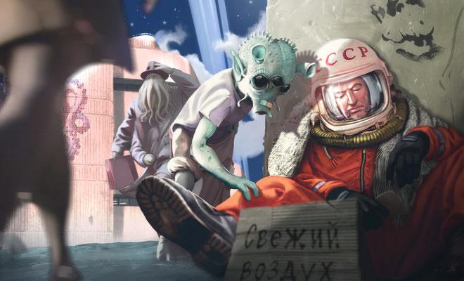 Artwork - Illustration - Homeless