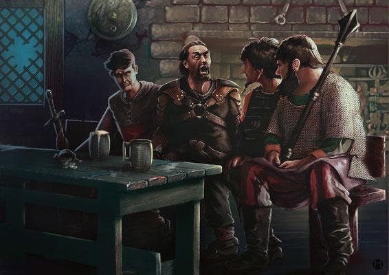 Artwork - Illustration - Männerabend