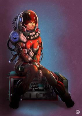 Concept Art - Character Design - Astronautin