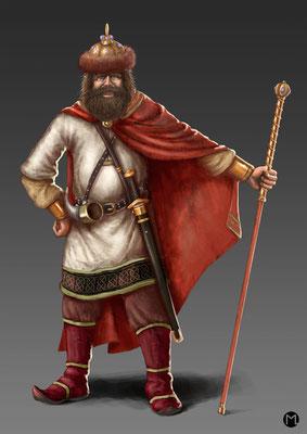 Concept Art - Character Design - Slavic King