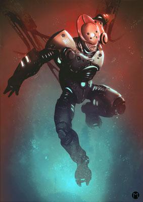 Concept Art - Character Design - Cyborg