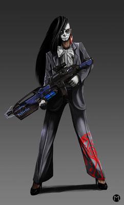 Concept Art - Character Design - Femme Fatale