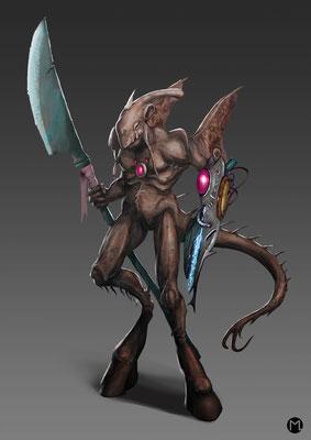 Concept Art - Character Design - Alien Creature - Außerirdische Kreatur