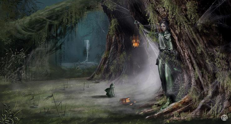 Artwork - Illustration - Magischer Wald
