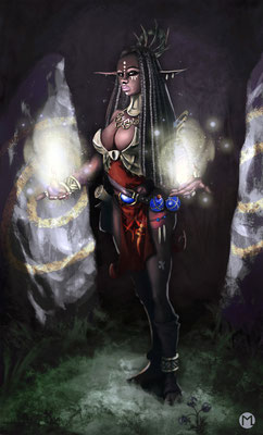 Artwork - Illustration - Character Design - Black Elf
