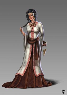 Concept Art - Character Design - Slawische Prinzessin
