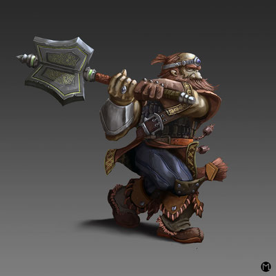 Artwork - Illustration - Character Design - Dwarf Warrior