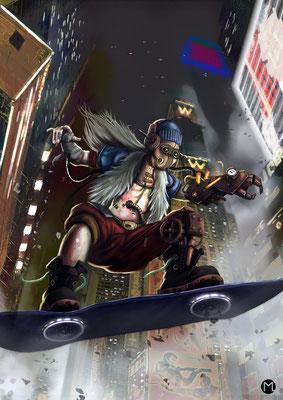 Artwork - Illustration - Chracter Design - Steam Punk Boarder